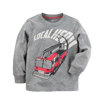 Carter's Toddler Boys' Firetruck Hero Tee, Heather