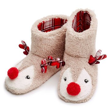 PJ Couture Sherpa Critter Boots Reindeer