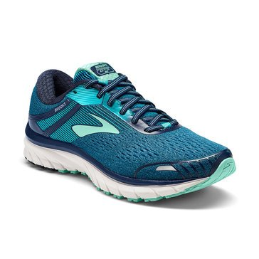 Brooks Adrenaline GTS 18 Women's Running Shoe - Navy / Teal / White