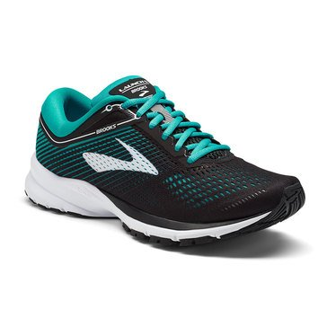 Brooks Launch 5 Women's Running Shoe - Black / Teal Green / White