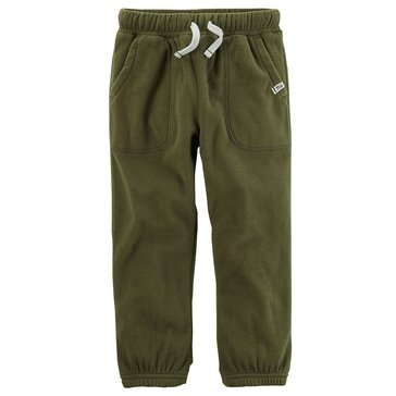 Carter's Little Boys' Cinched Bottom Pants, Olive Green