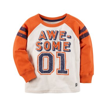 Carter's Little Boys' Orange Awesome Number Tee