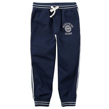 Carter's Little Boys' Navy Woven Athletic Joggers