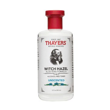 Thayers Alcohol Free Unscented Witch Hazel Toner with Aloe Vera 12oz