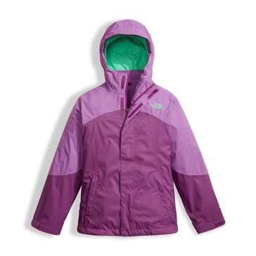 The North Face Big Girls' View Triclimate Jacket, Bellflower Purple
