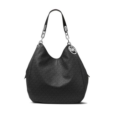 Michael Kors Fulton Large Shoulder Tote Signature Black