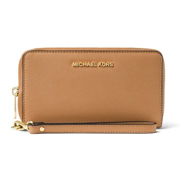 Michael Kors Jet Set Travel Large Flat Multifunction Phone Case Acorn