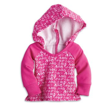 American Girl V-neck Hoodie for Dolls