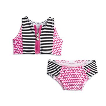 American Girl Stripes and Dots Swimsuit for Dolls