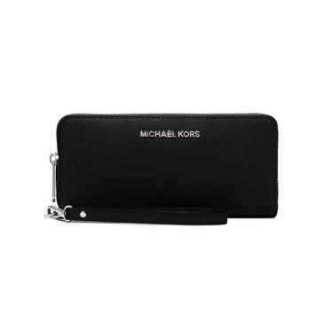 Michael Kors Travel Continental Black/ Silver Hardware