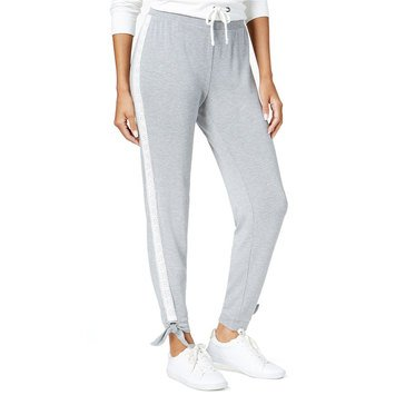 Maison Jules Jogger with Side Lace Panel in Grey