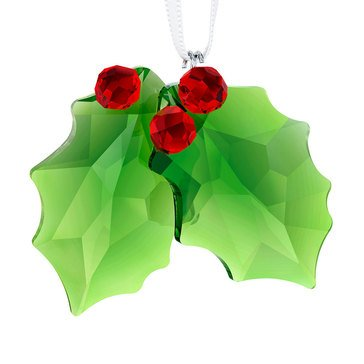 Swarovski Crystal Living Holly Ornament