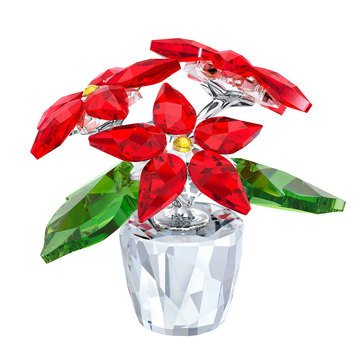 Swarovski Crystal Living Poinsettia, Small