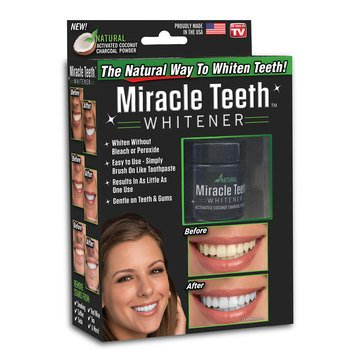 As Seen On TV Miracle Teeth Whitener - The Natural way to Whiten Teeth