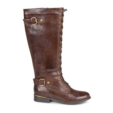 Wanted Cocktail Lace Up Boot Brown