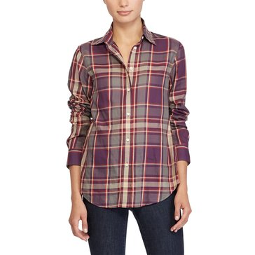 Lauren Ralph Lauren Kristine Plaid Shirt in Red Multi