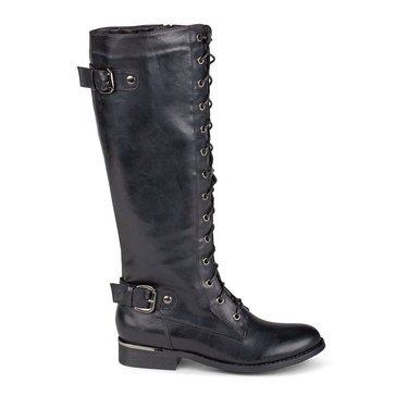 Wanted Cocktail Lace Up Boot Black