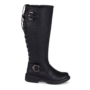 Wanted Brew Tall Back Lace Boot Black