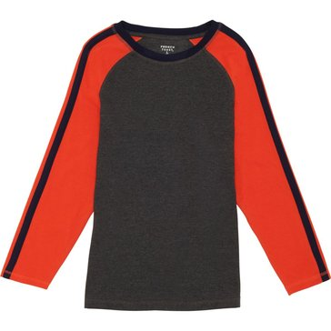 French Toast Toddler Boys' Solid Raglan Tee, Grey
