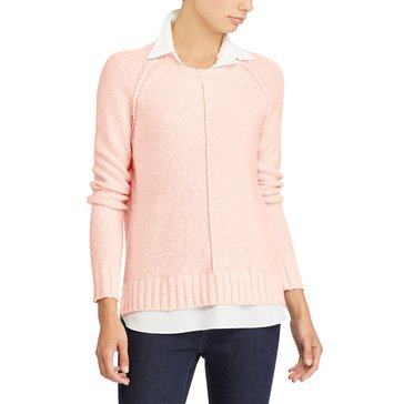 Lauren Ralph Lauren Gristan Sweater in Pale Rose Marled
