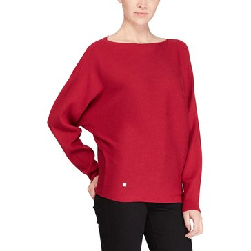Lauren Ralph Lauren Alsah Long Sleeve Modal Sweater in Carmine Red
