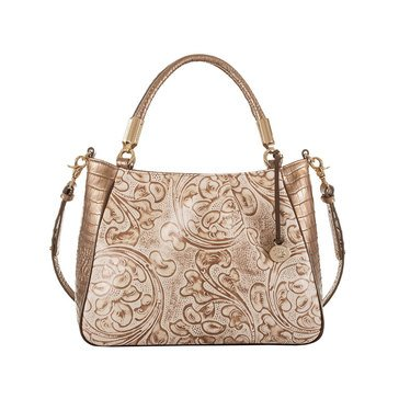 Brahmin Ruby Satchel Rose Gold Bourdelle