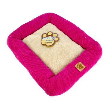 Petmate Precision Snoozzy Mod Chic Low Bumper Crate Mat Bed, Fuchsia 31 x 21