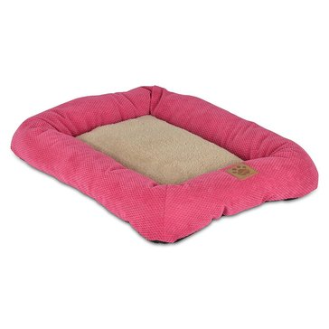Petmate Precision Snoozzy Mod Chic Low Bumper Crate Mat Bed, Fuchsia 25 X 20