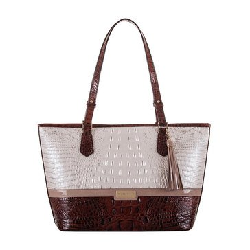 Brahmin Medium Asher Tote Toasted Macaroon Durance