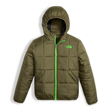 The North Face Big Boys' Reversible Perrito Jacket, Green Camo