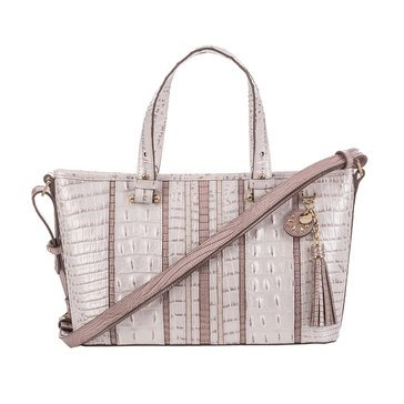 Brahmin Mini Asher Satchel Toasted Macaroon Orleans