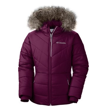 Columbia Big Girls' Katelyn Crest Jacket, Dark Raspberry