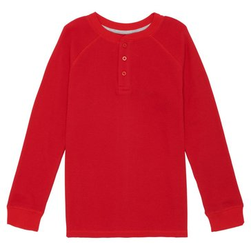 French Toast Toddler Boys' Raglan Henley Tee, Red