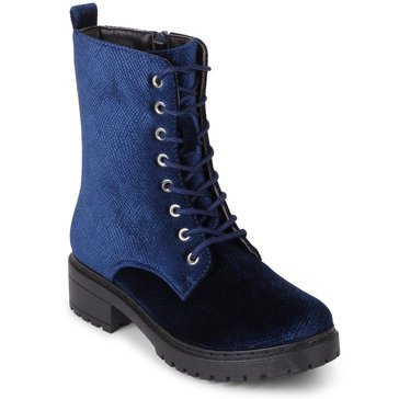 Wanted Patrol Velvet Boot Navy