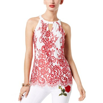 INC International Concepts Lace Halter Top