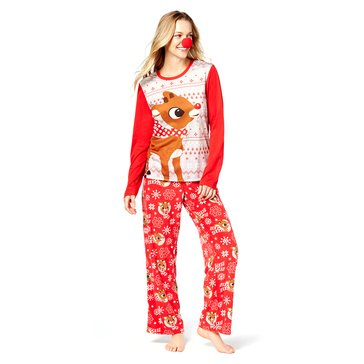 Briefly Stated Women's Family PJ Licensed Rudolph