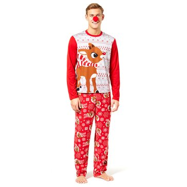 Briefly Stated Men's Family PJ Licensed Rudolph