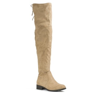Pierre Dumas City 9 Over the Knee Boot Taupe