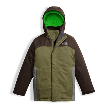 The North Face Big Boys' Vortex Triclimate Jacket, Brown