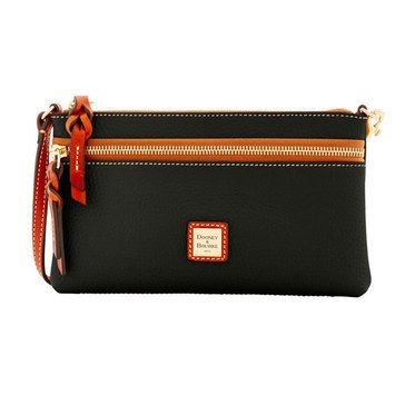 Dooney & Bourke Pebble Zip Top Wristlet Pouch Black