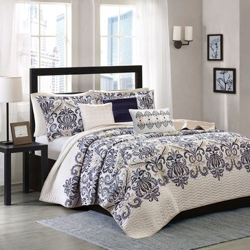 Cali Blue 6-Piece Coverlet - King