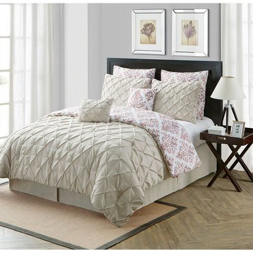 Heather Taupe 8-Piece Comforter Set - Queen