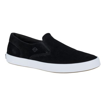 Sperry Top Sider Wahoo Suede Men's Casual Slip On Shoe Black