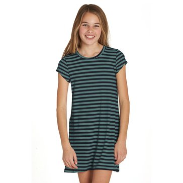 Billabong Big Girls' Stand Off Stripe Knit Dress, Sugar Pine
