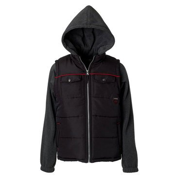 Ixtreme Big Boys' Quilted 2-Fer Coat, Black