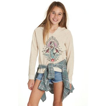 Billabong Big Girls' Surf Tribe Hoodie, Oatmeal Heather