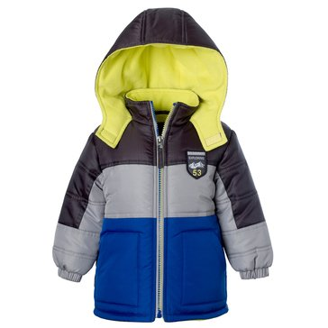iXtreme Toddler Boys' Ripstop Stripe Bubble Coat, Navy