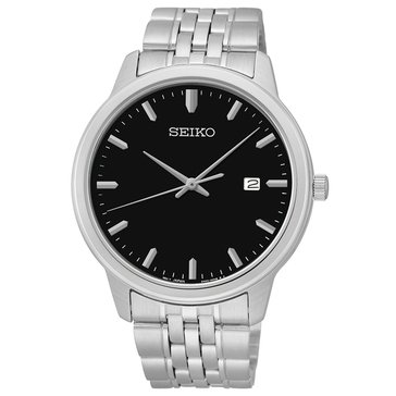 Seiko Men's Black Watch, 41mm
