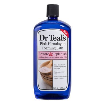 Dr. Teal's Restore & Replenish Foaming Bath with Pink Himalayan 32oz