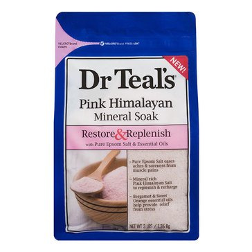 Dr. Teal's Restore & Replenish Mineral Soak with Pink Himalayan, 3lb